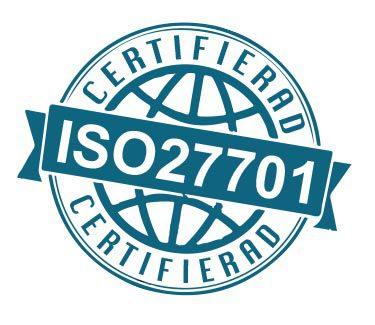 ISO 27701 certifieringsstämpel